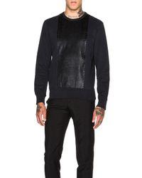 Alexander McQueen | Black Men's Paneled Sweatshirt | Lyst