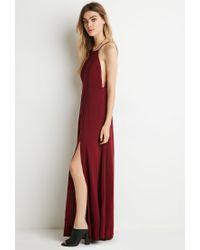 Forever 21 - Purple M-slit Maxi Dress - Lyst