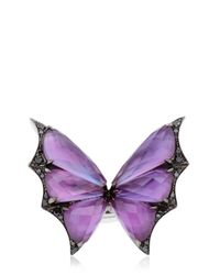 Stephen Webster - Purple Fly By Night Crystal Haze Ring - Lyst