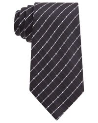 Geoffrey Beene - Black City Grid Tie for Men - Lyst