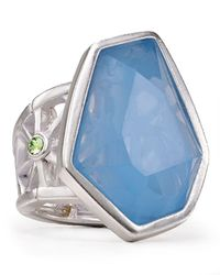 T Tahari | Blue Color Grid Ring | Lyst