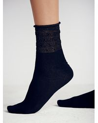 Free People - Black After Party Ankle Sock - Lyst