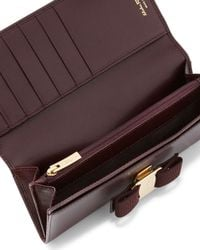 Ferragamo - Brown Miss Vara Continental Wallet - Lyst