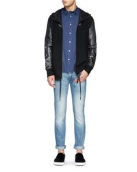 Acne Studios - Blue 'max' Heavy Wash Slim Fit Jeans for Men - Lyst