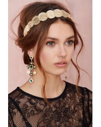 Nasty Gal | Black Cross Out Earrings | Lyst