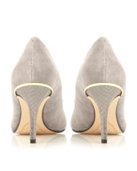 Dune | Gray Bellina Toecap Detail Court Shoes | Lyst