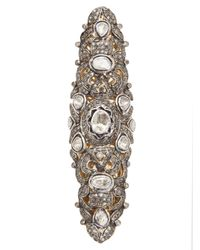 Native Jewels - Gray Long Diamond Ring - Lyst