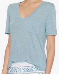 Alexander Wang | Blue T By Classic Cropped Pocket Tee | Lyst