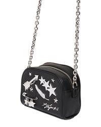 Karl Lagerfeld - Black K Charm Leather Shoulder Bag - Lyst