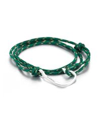 Miansai | Green Hook Rope Wrap Bracelet | Lyst