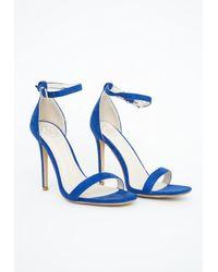 Missguided - Clara Cobalt Blue Strappy Heeled Sandals - Lyst