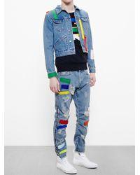 James Long - Blue Patchwork Denim Jacket for Men - Lyst