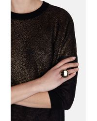 Karen Millen | Metallic Round Stone Statement Ring | Lyst