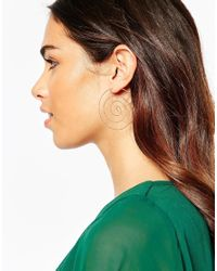 ASOS | Metallic Swirl Hoop Earrings | Lyst