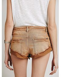 Free People - Brown Cascading Petal Short - Lyst