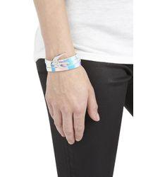 McQ | Multicolor Irredescent Triple Wrap Leather Bracelet for Men | Lyst