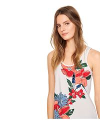 Tory Burch | White Embellished Racerback Tank | Lyst
