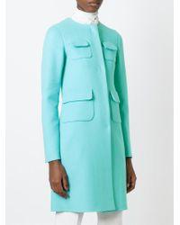 Rochas - Blue Patch Pockets Coat - Lyst