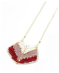 Nakamol | Multicolor Magdalene Pendant Necklace-ruby | Lyst