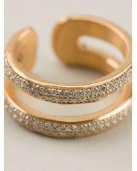 Haider Ackermann | Metallic Pavé Diamonds Open Ring | Lyst