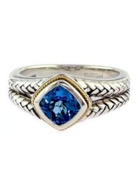 Effy | Balissima Sterling Silver And 18kt. Yellow Gold Blue Topaz Ring | Lyst