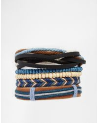 ASOS | Brown Leather Bracelet Pack for Men | Lyst
