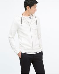 Zara | Natural Hooded Sweater for Men | Lyst