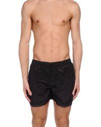 Stone Island - Black Swimming Trunks for Men - Lyst