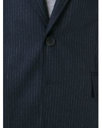 Ann Demeulemeester Grise - Blue Pinstripe Two Button Suit for Men - Lyst