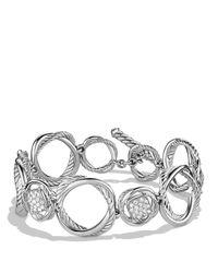 David Yurman - Metallic Infinity Link Bracelet With Diamonds - Lyst