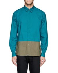 Paul Smith | Green Colourblock Poplin Shirt for Men | Lyst