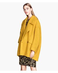 H&M | Yellow Wide Coat | Lyst
