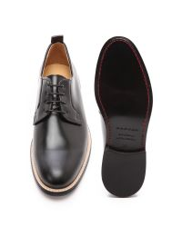 Carven - Black Pull Leather Derby Shoes for Men - Lyst