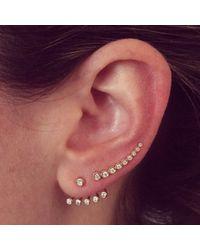 EF Collection | Metallic Multi Bezel Set Diamond Ear Jacket Set | Lyst