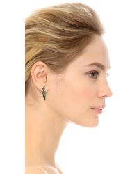 Joanna Laura Constantine | Crystal Wing Earrings - Black/clear | Lyst