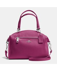 COACH | Pink Prairie Pebbled-Leather Satchel | Lyst