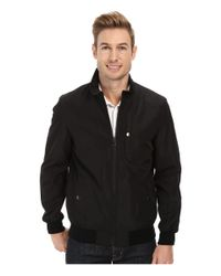Perry Ellis - Black Poly Bonded Bomber for Men - Lyst