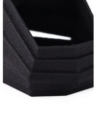 Vojd Studios | Black Theresa Burger Stepped Ring | Lyst