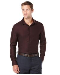 Perry Ellis | Red Non-iron Travel Luxe Performance Shirt for Men | Lyst