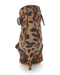 Tabitha Simmons - Multicolor Fitz Bootie In Leopard Hair Calf - Lyst