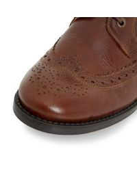 Dune | Brown Fillie Leather Lace Up Shoes Brogues | Lyst