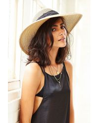 Urban Outfitters - Natural Femme Tie-Back Straw Hat - Lyst