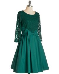 East Concept Fashion Ltd | Green Tough Entre'Acte To Follow Dress In Emerald | Lyst