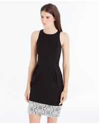 Ann Taylor - Black Lace Hem Sheath Dress - Lyst