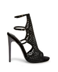 Steve Madden | Black Maylin Suede Cage Sandals | Lyst