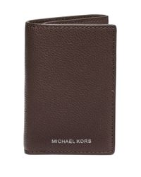 Michael Kors | Brown Leather Tri-fold Wallet for Men | Lyst