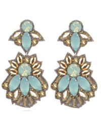 Suzanna Dai | Blue Sunset Blvd Drop Earrings, Turquoise/gold | Lyst