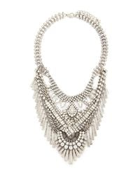 Forever 21 | Metallic Faux Crystal Chainmail Necklace | Lyst