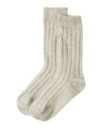 Toast | Natural Cashmere Bed Socks | Lyst