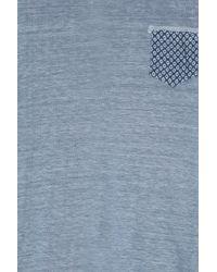 120% Lino - Blue Print Pocket Crew Nk T Shirt for Men - Lyst
